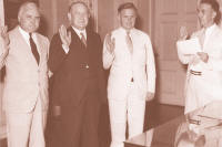 The first Board of Directory of the Federal Deposit Insurance Corporation was sworn in at the Treasury Department, Washington, D.C., on September 11, 1933.