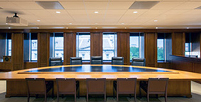Picture of empty FDIC board room