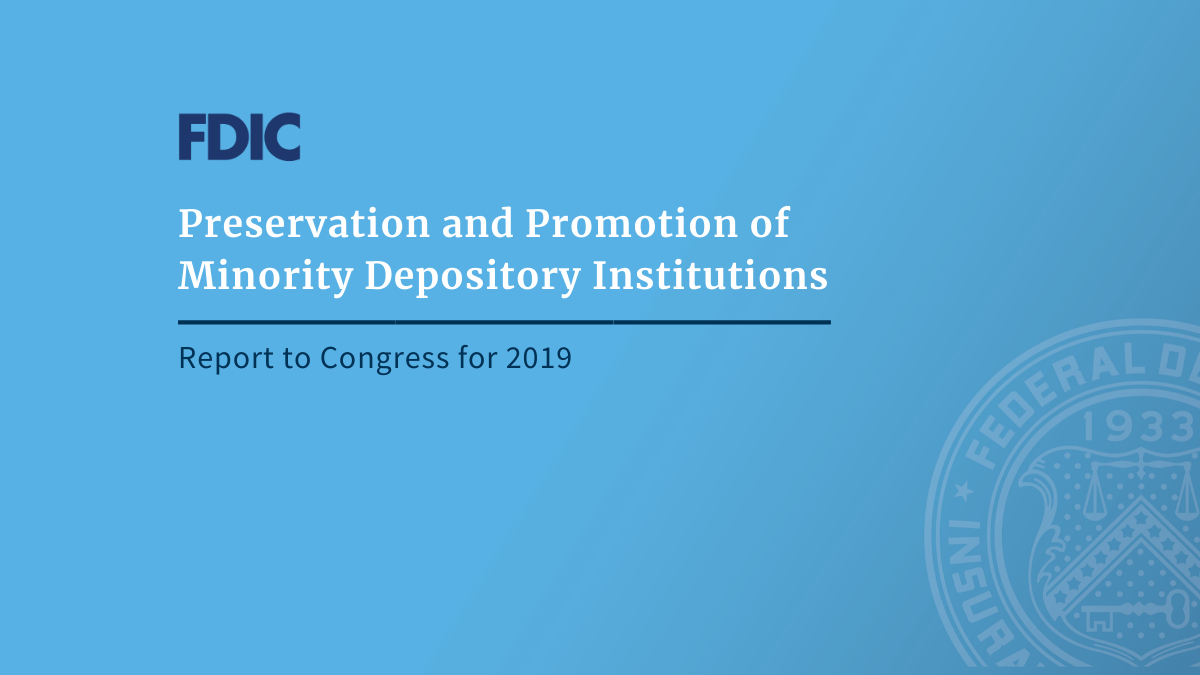 FDIC Issues Annual Report on Efforts to Preserve and Promote Minority Depository Institutions