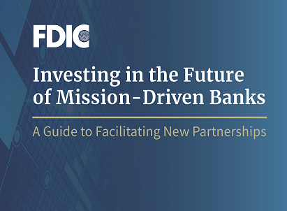 Guide to Promote Investment Partnerships With FDIC-Insured Minority Banks and Community Development Financial Institutions