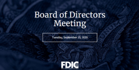 FDIC Board Meeting