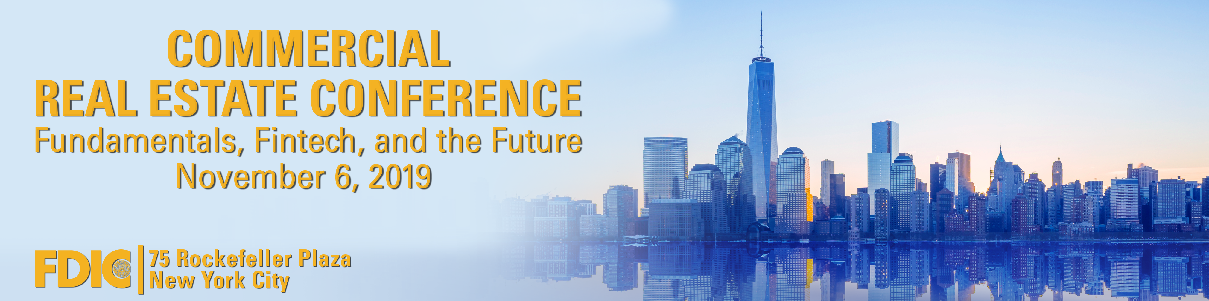 Commercial Real Estate Conference header