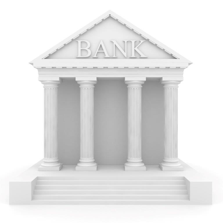 Graphic of bank building