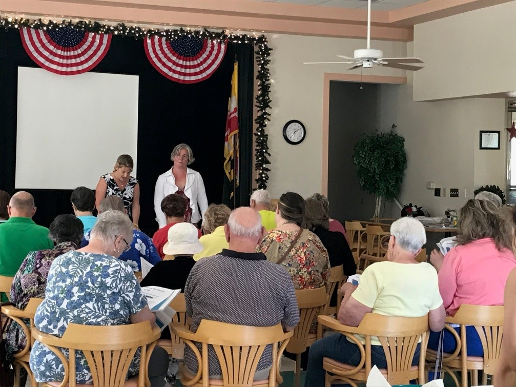 The Maryland State Bar Association's Subcommittee on Consumer Credit held a Money Smart for Older Adults session at Grasonville Senior Center in Queen Anne's County in 2018