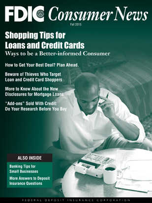 FDIC Consumer News - Fall 2015