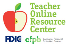 Logo depicting and apple for a teacher