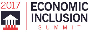 2017 Economic Inclusion Summit Logo - text with house graphic