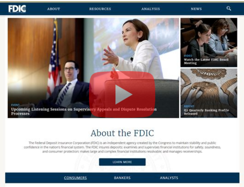 FDIC Unveils Redesigned Website