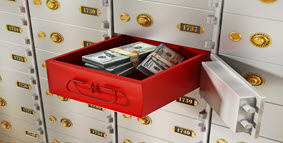 Safe Deposit Box with Cash in it