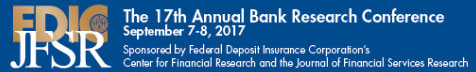 The FDIC's Center for Financial Research and the Journal of Financial Services Research invite submissions for the 17th Annual Fall Research Conference to be held in Arlington, Virginia on September 7-8, 2017.